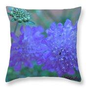 Pin Cushion Flower Throw Pillow