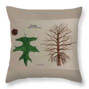 Pin Oak Tree Id Throw Pillow