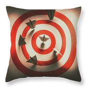 Pin Point Your Target Audience Throw Pillow