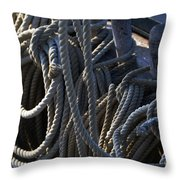 Pin Rail And Rope Throw Pillow