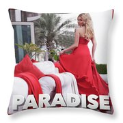 Pin Up Model Tatiana 3 Throw Pillow