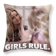 Pin Up Model Tatiana 4 Throw Pillow