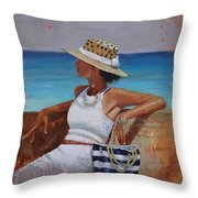 Pina Colada Please Throw Pillow by Laura Lee Zanghetti