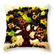 Pinatamiche Tree Painting In Crackle Paint Throw Pillow