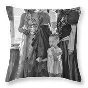 Princesses - Bw Throw Pillow