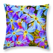 Pincushion Flower Throw Pillow