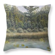 Pine And Lily Pads 2  Throw Pillow
