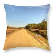 Pine Barrens Of New Jersey Cranberry Harvest Bogs  Throw Pillow