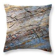 Pine Beetle Etchings Throw Pillow