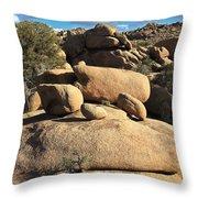 Pine City Boulders Throw Pillow
