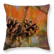 Pine Cone 2 Throw Pillow