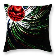 Pine Cone Abstract Throw Pillow