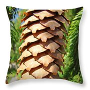 Pine Cone Art Prints Pine Tree Artwork Baslee Troutman Throw Pillow