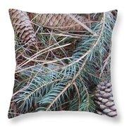 Pine Cone Brush Throw Pillow