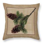 Pine Cone Design Throw Pillow