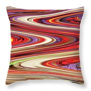 Pine Cone Flower Abstract Throw Pillow