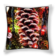 Pine Cone Ornament Throw Pillow