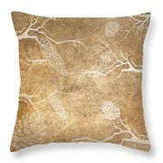 Pine Cone Shadows Throw Pillow