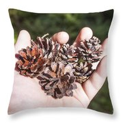 Pine Cones Hand Throw Pillow