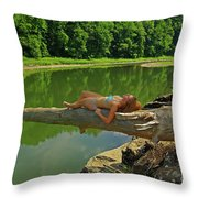 Pine Creek Afternoon Throw Pillow