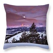 Pine Creek Pass Throw Pillow