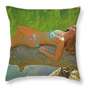 Pine Creek Summer Afternoon Throw Pillow