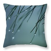 Pine Needle Raindrops Throw Pillow