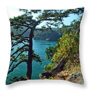 Pine Over The Bay Throw Pillow