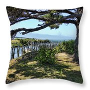 Pine Pilings And Mist Throw Pillow