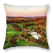 Pine Room Sunset Throw Pillow