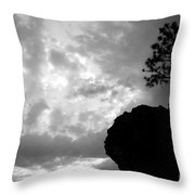 Pine Silhouette Throw Pillow