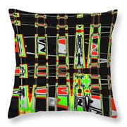 Pine Tree Abstract #3 Throw Pillow