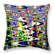 Pine Tree Abstract ,3448wt Throw Pillow