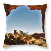 Pine Tree Arch 1 Throw Pillow