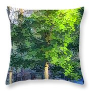 Pine Tree Forest Throw Pillow