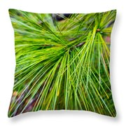 Pine Tree Needles Throw Pillow