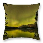 Pine Tree Silhouettes Throw Pillow