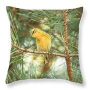 Pine Warbler Throw Pillow