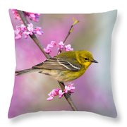 Pine Warbler Throw Pillow