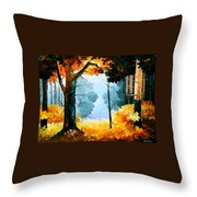 Pine Wood Throw Pillow