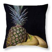 Pineapple And Bananas Throw Pillow