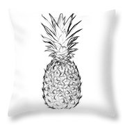 Pineapple Black And White Throw Pillow