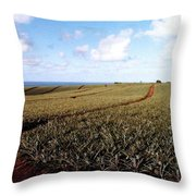 Pineapple Fields Throw Pillow