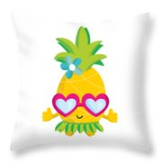 Pineapple Hula Throw Pillow