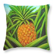 Pineapple Painting #332 Throw Pillow