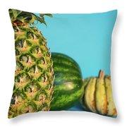 Pineapple, Watermelon, Pumpkin Throw Pillow