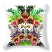 Pineapples And Crystals Throw Pillow