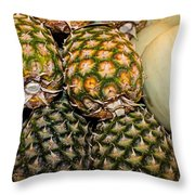 Pineapples And Melons Throw Pillow
