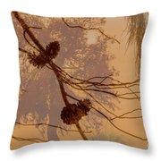 Pinecone Overlay Bright Horizontal Throw Pillow