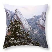 Pines And Flatirons Boulder Colorado Throw Pillow